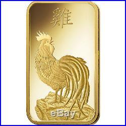 SPECIAL EDITION PAMP SUISSE Gold 2017 Lunar Rooster 1 Gram Bar 24KT. 9999 Fine