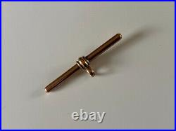 SUPERB CHUNKY Antique nine carat 9ct Rose gold T bar for watch chain 3.2 GRAMMES