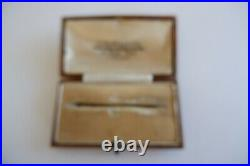 Suffragette Art Nouveau 9ct Gold Super Sized Bar Brooch C1890's, Box