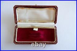 Suffragette Edwardian 9ct Gold Crystal Bar Brooch C1905's 2.63g, Box