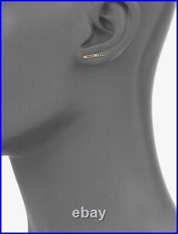 Sydney Evan 14K Gold Rainbow Bar Stud Single Earring Jewelry Ruby Sapphire $350