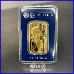 The Royal Mint Britannia 1oz Gold Bar in Assay. 9999 Fine Gold