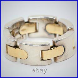 Tiffany & Co. H Bar Link Ring in 18K Gold & Silver Vintage
