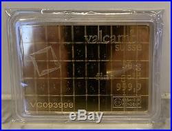 Valcambi 50 Gram, 999.9 Fine Gold Combi Bar