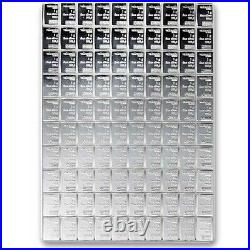 Valcambi Suisse 100 Gram Silver CombiBar (100x1g with Assay). 999 Fine In Assay