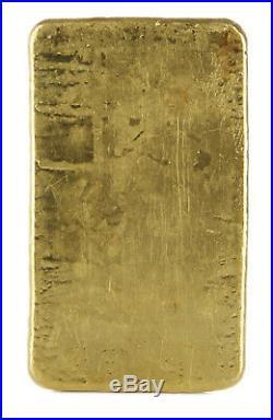 Vintage 5oz Engelhard Gold Bar / Poured Ingot London. 9999 fine
