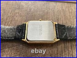 Vintage Credit Suisse Pugeot Mens Watch. 999 1g 14K SOLID Gold Bar Dial RUNS