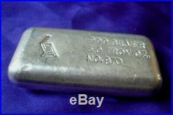 Vintage GA Golden Analytical 5 oz. 999 Fine Silver Hand Poured Bar (118)