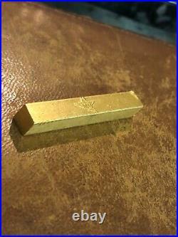 Vintage Poured Fine. 999 Gold Bar Ingot Italy Star 27.9 Grams EX- RARE