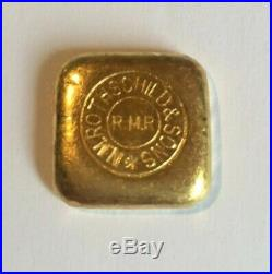 Vintage Rothschild & Sons R. M. R. RARE POURED Fine Gold Bar 50 Grams Rothchild
