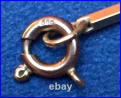 Vintage UNOAERRE Italy 14k Yellow Gold Solid Bar Links 31 Necklace 11.34g