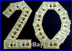 X20 Acb Gold 1/2grain 24k Solid Bullion Minted Bar 9999 Fine Cert/authenticity