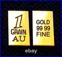X20 pack ACB 24K SOLID GOLD BULLION 1GRAIN VERTICAL BARS. 9999 FINE Au +
